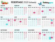Brückentage Schweiz 2020 – Mit cleverer Planung Ferien verdoppeln