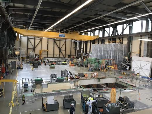 Im Maschinenhaus wurde Platz geschaffen, um hier das Material reinigen zu können.